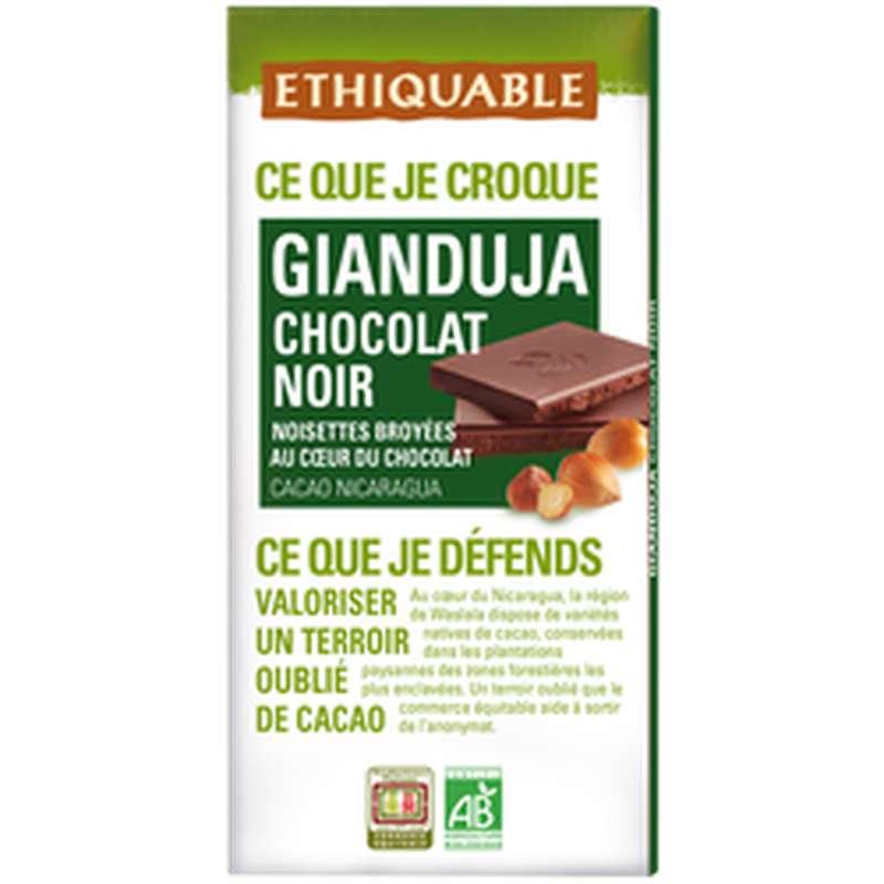 Chocolat noir Gianduja BIO, Ethiquable (100 g)