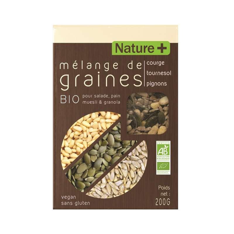 Céréales mélange de courge tournesol & pignon BIO, Nature+ (200 g)