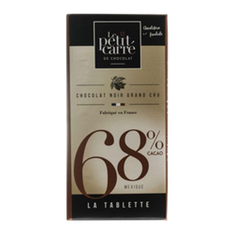 Chocolat noir 68% de cacao, Le Petit Carré de Chocolat (90 g)