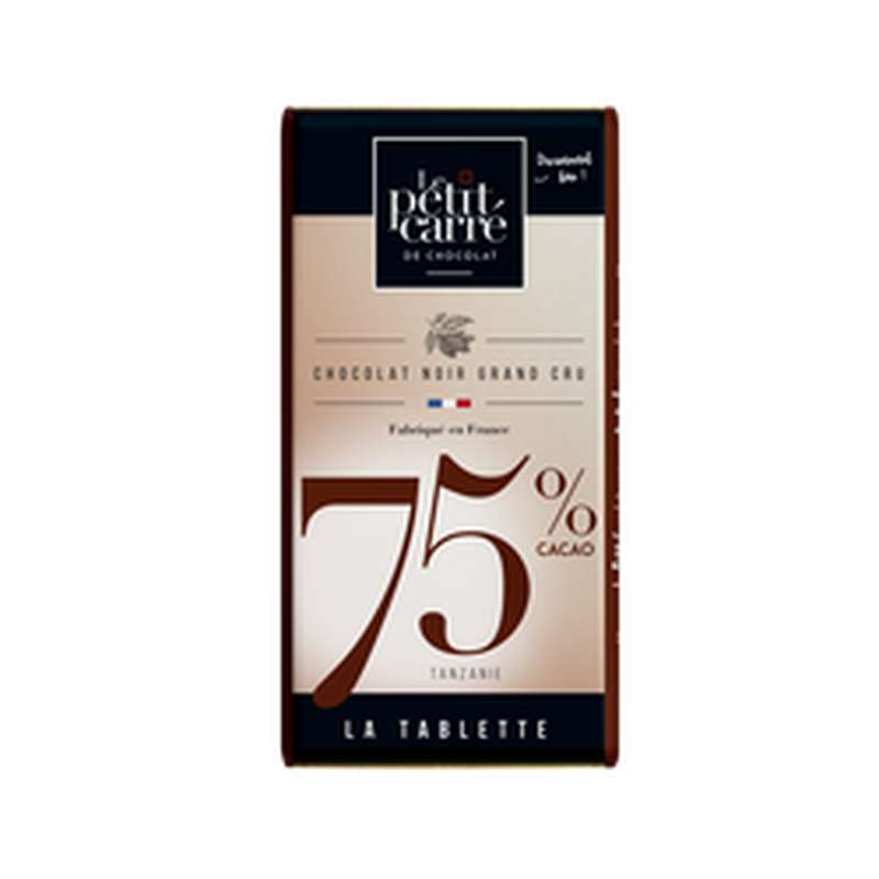 Chocolat noir 75% de cacao, Le Petit Carré de Chocolat (90 g)