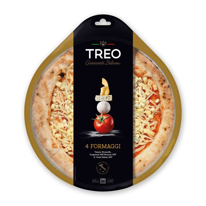 Pizza 4 Fromages, Treo (430 g)