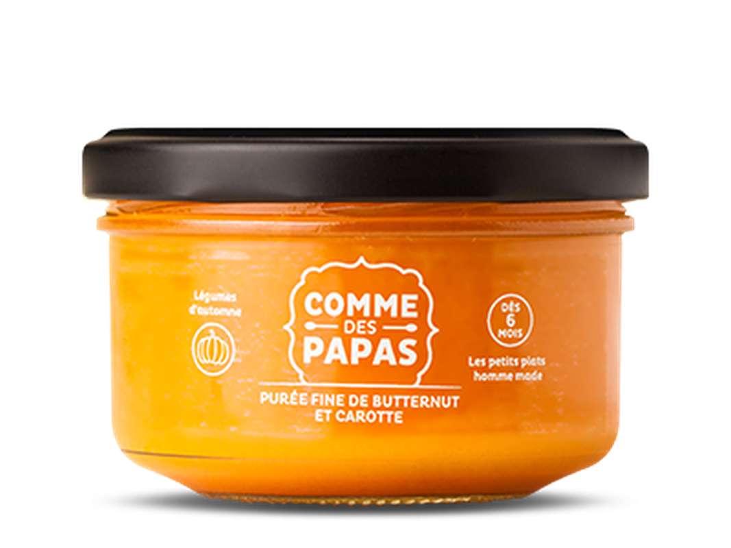 Purée fine de butternut et carotte BIO - 6 mois, Comme des Papas (130 g)