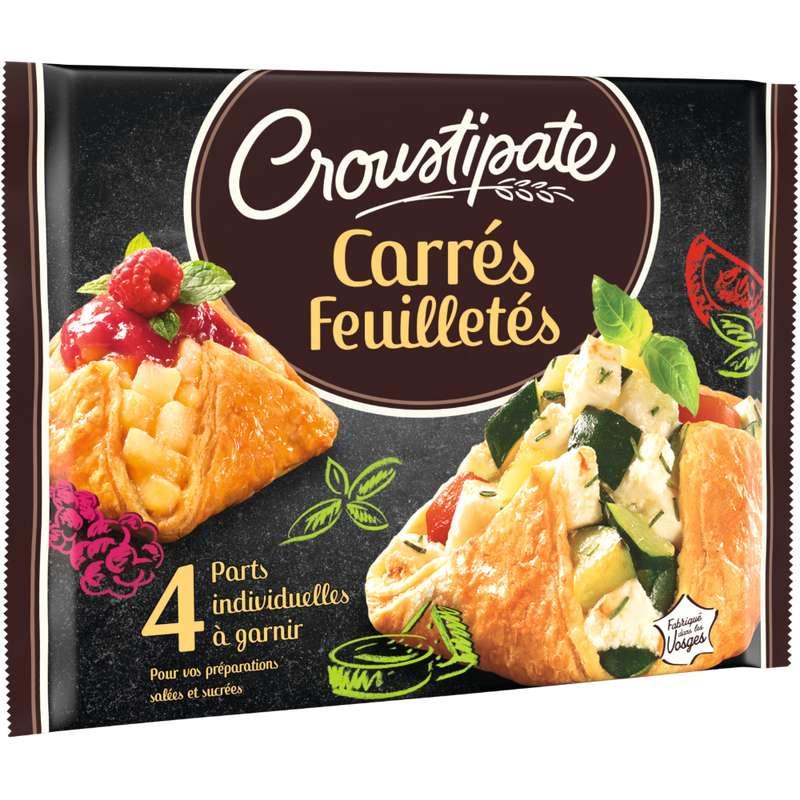 Carrés pâte feuilletée, Croustipate (x 4, 240 g)