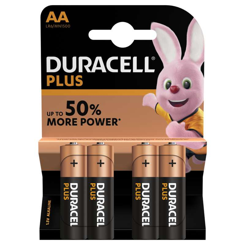 Piles AA/LR06 Plus Power, Duracell (x 4)