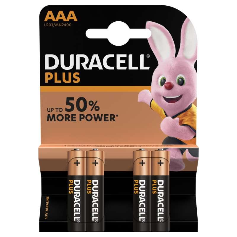 Piles AAA/LR03 Plus Power, Duracell (x 4)