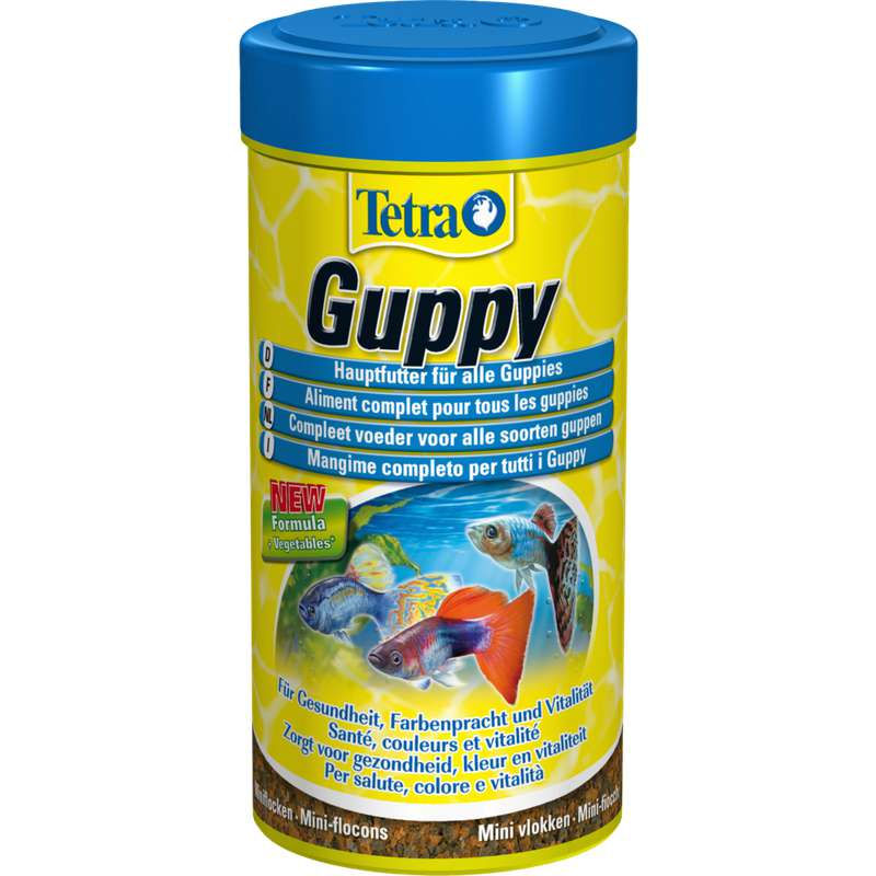 Aliment complet pour Guppy, Tetra (250 ml)
