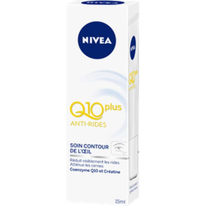 Soin anti-rides contour des yeux Q10+, Nivea (15 ml)