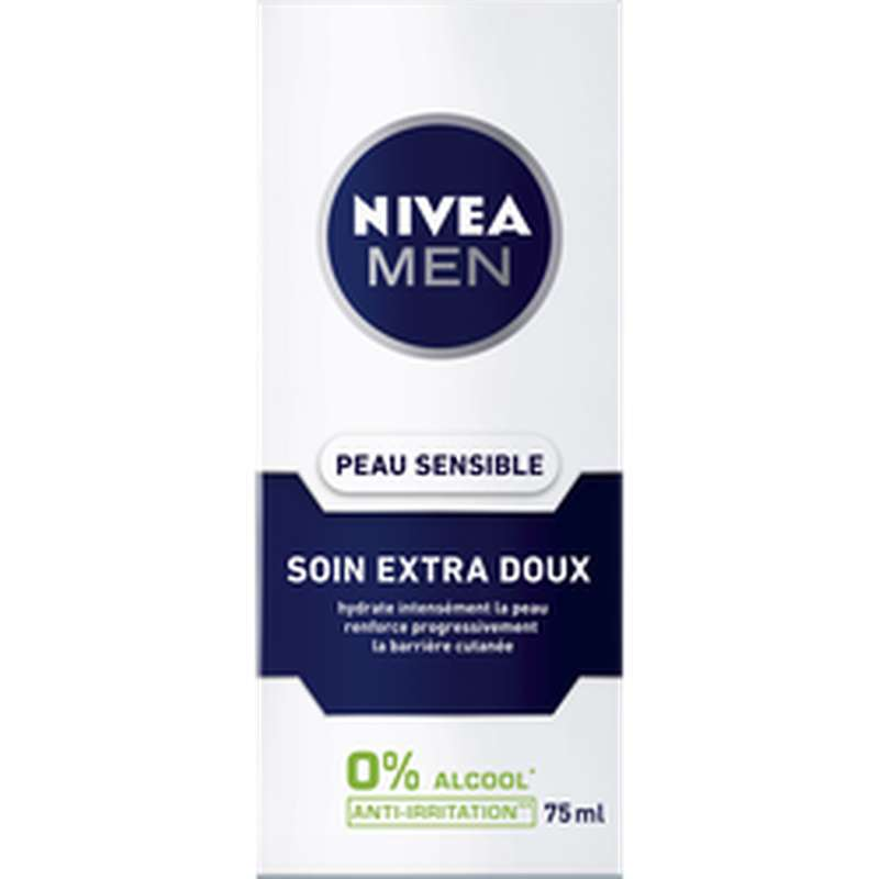 Crème soin apaisant pour homme pour peaux sensibles, Nivea Men (75 ml)