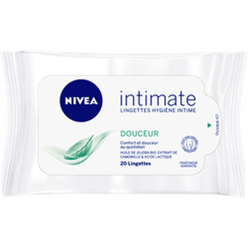 Lingettes toilette intime, Nivea (x 20)