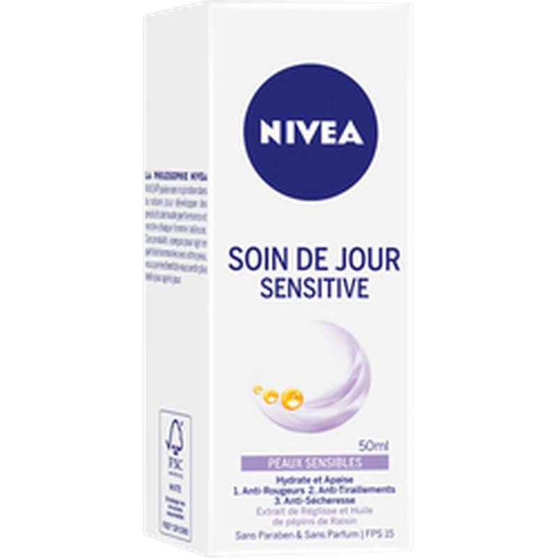 Soin de jour visage sensitive, Nivea (50 ml)