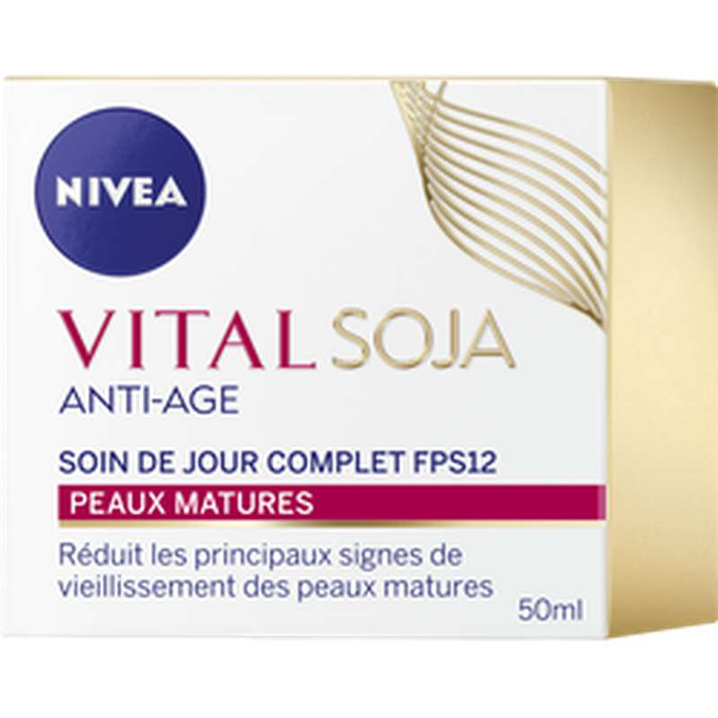 Soin jour anti-âge complet soja, Nivea (50 ml)