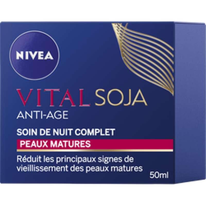 Soin de nuit anti-âge peaux matures, Nivea (50 ml)