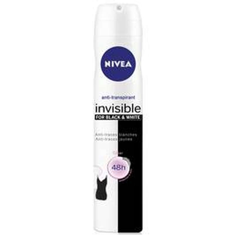 Déodorant spray Black & White clear pour femme, Nivea (200 ml)