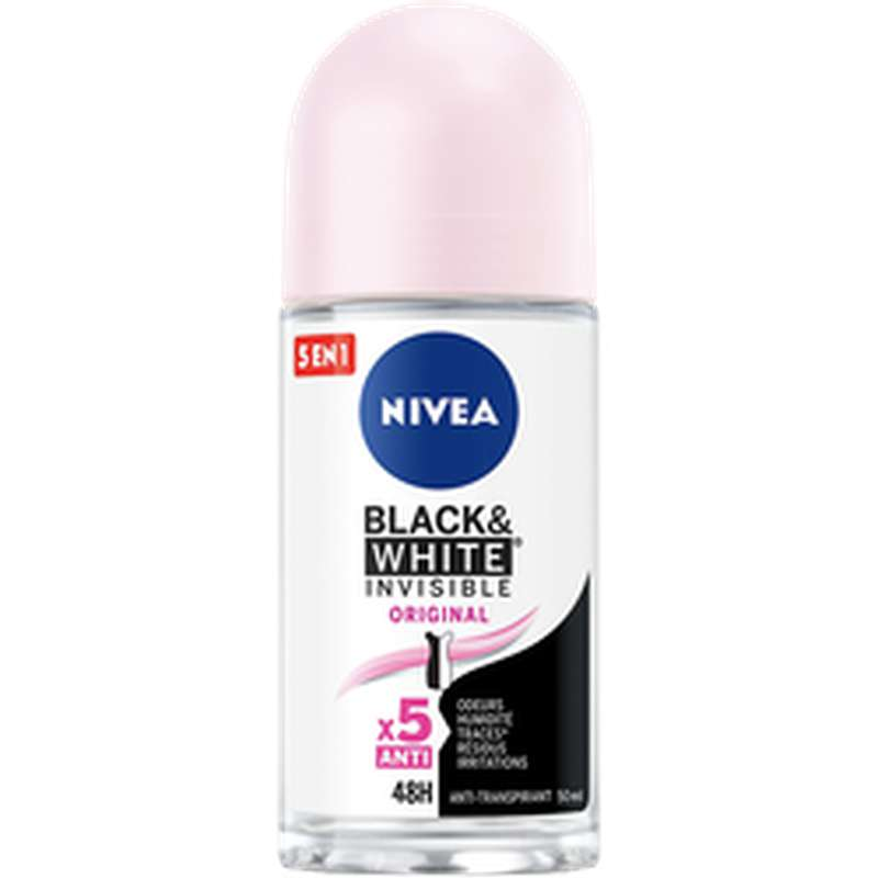 Déodorant  invisible Black & White, Nivea (50 ml)