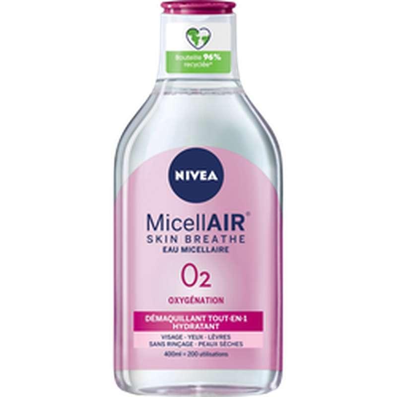 Démaquillant micellaire 0% pour peaux sèches et sensibles, Nivea (400 ml)