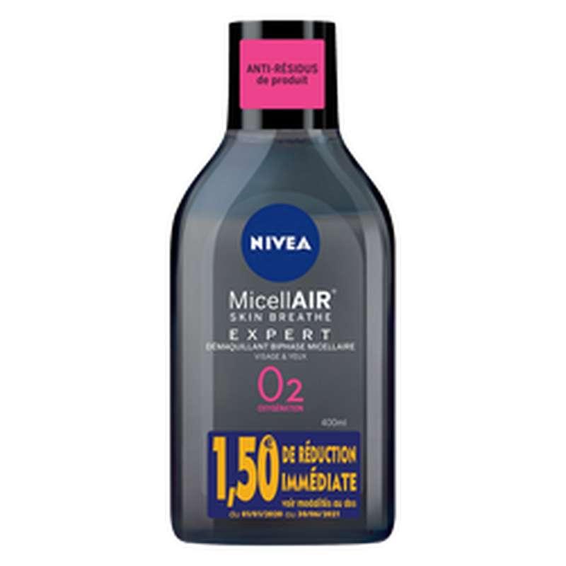 Démaquillant visage waterproof biphasée micellaire, Nivea (400 ml)