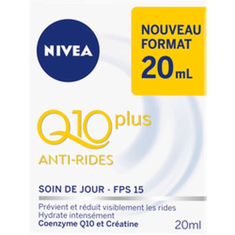 Soin visage Q10 plus mini anti-ride, Nivea (20 ml)