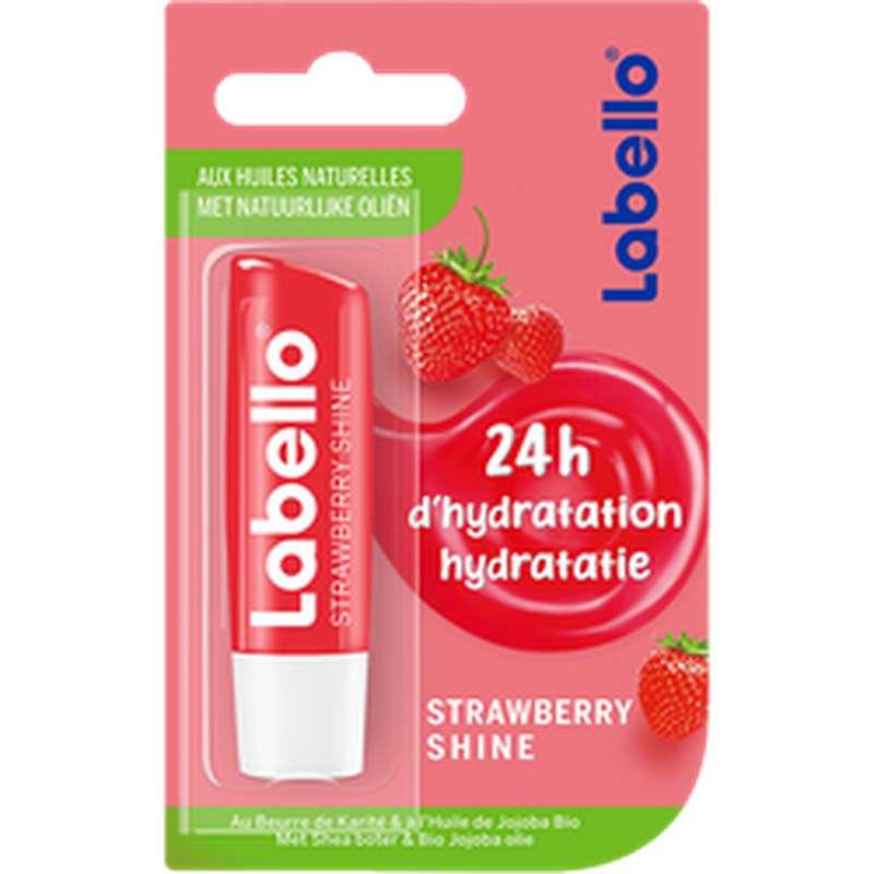 Stick à lèvres Strawberry Shine 24h d'hydratation, Labello