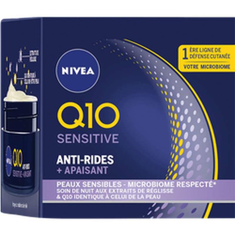 Soin de nuit visage Q10+ sensitive, Nivea (50 ml)