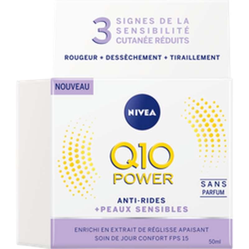 Soin de jour pour le visage Q10+ sensitive, Nivea (50 ml)