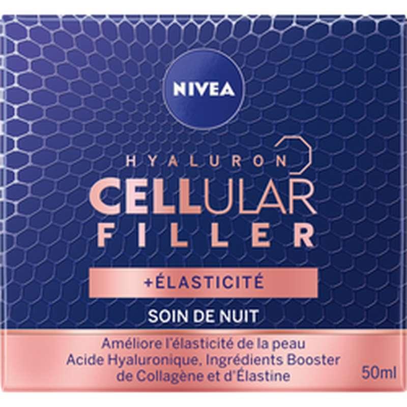 Soin visage de nuit hyaluron Cellular filler, Nivea (50 ml)