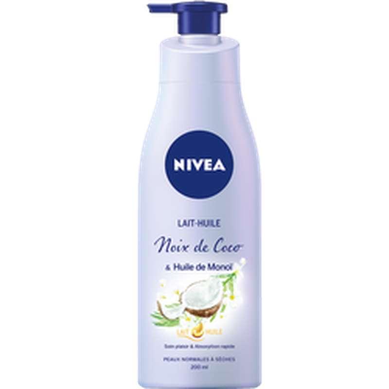 Lait à l'huile de coco et au monoï peaux normales et sèches, Nivea (200 ml)