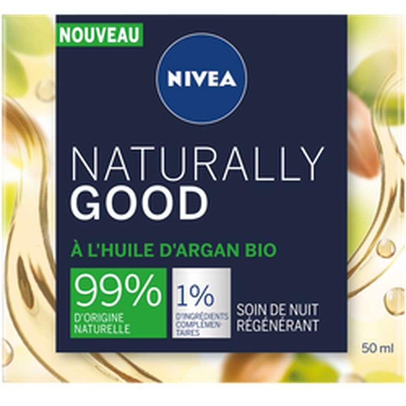 Soin de nuit régénérant argent naturelle good, Nivea (50 ml)