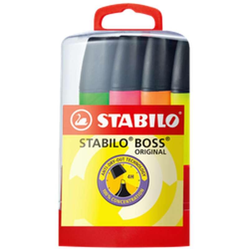 Surligneurs parade Boss, Stabilo (x 4)