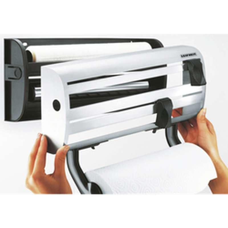 Dérouleur 3 rouleaux film plastique, aluminium et essuie-tout, Leifheit (x 1)