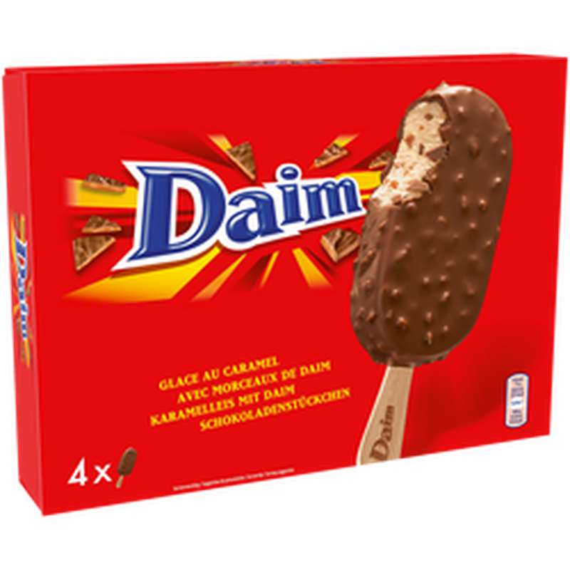 Glace en Bâtonnets, Daim (x 4, 284 g)