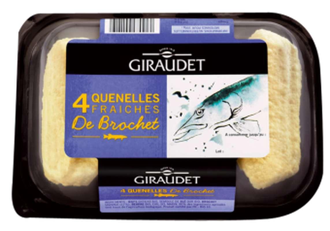 Quenelles fraiches de brochet BIO, Giraudet (x 4, 320 g)