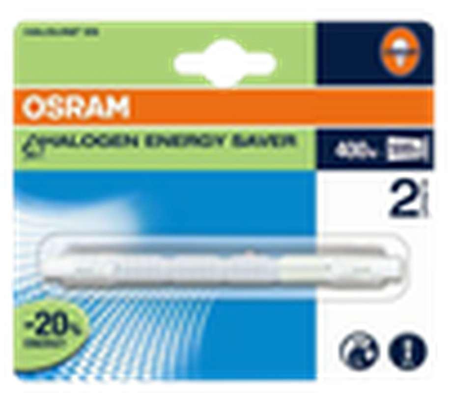 Ampoule crayon long Halogène éco 500W culot R7S - blanc chaud, Osram (x 1)