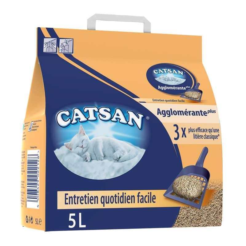 Litière agglomérante plus, Catsan (5 L)