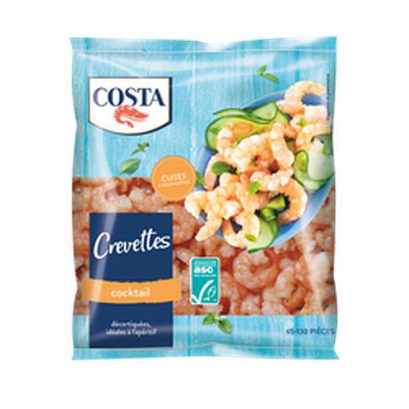 Crevettes cocktail décortiquées surgelées, Costa (300 g)