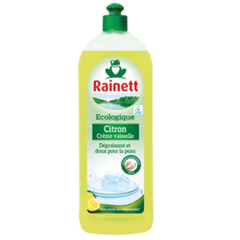 Crème vaisselle écologique citron, Rainett (750 ml)