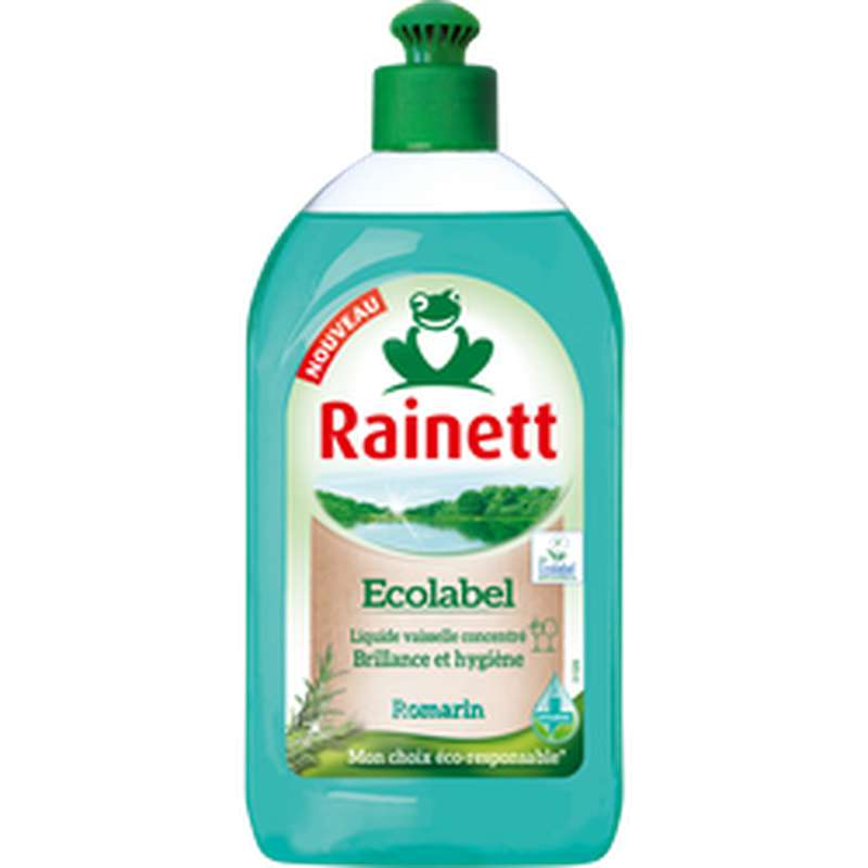 Liquide vaisselle concentré Ecolabel Romarin, Rainett (500 ml)