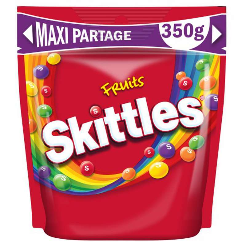 Bonbons goût fruits maxi format, Skittles (350 g)
