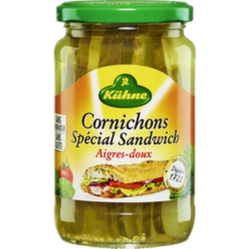 Cornichons Américan Slices, Kuhne (185 g)