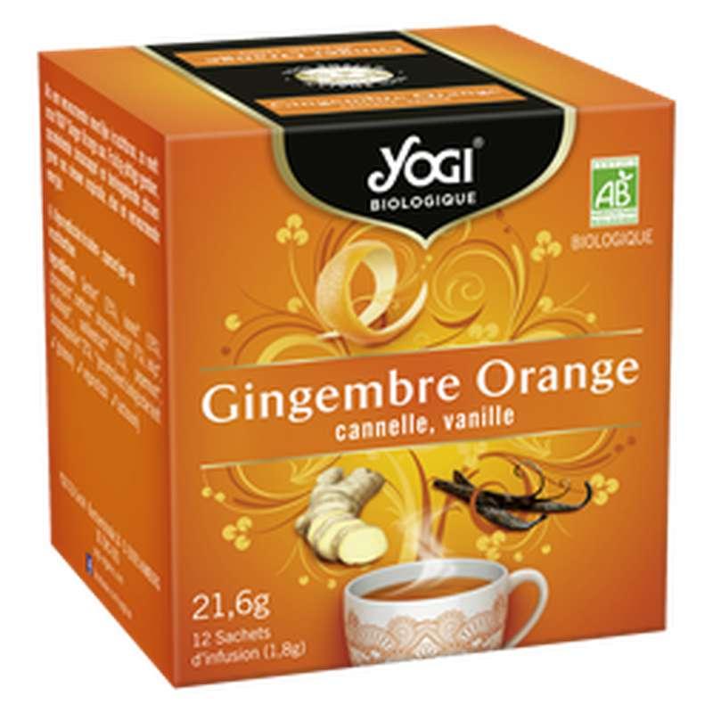 Infusion Gingembre Orange BIO, Yogi (x 12 sachets)