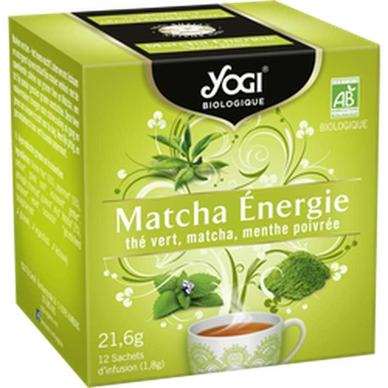 Thé vert Matcha Energie BIO, Yogi (21,6 g)