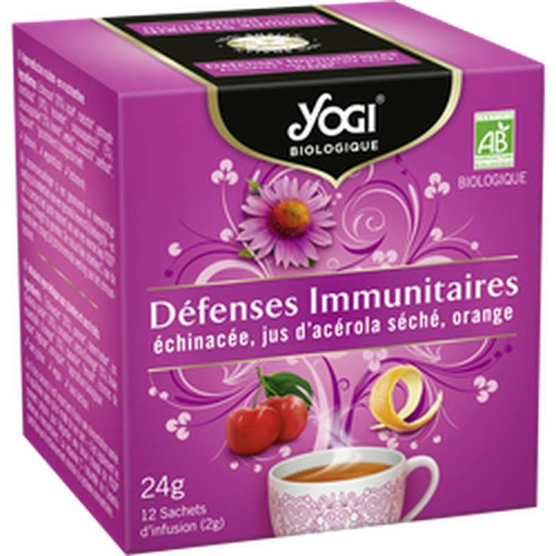 Infusion Défense Immunitaire BIO, Yogi (x 12 sachets)