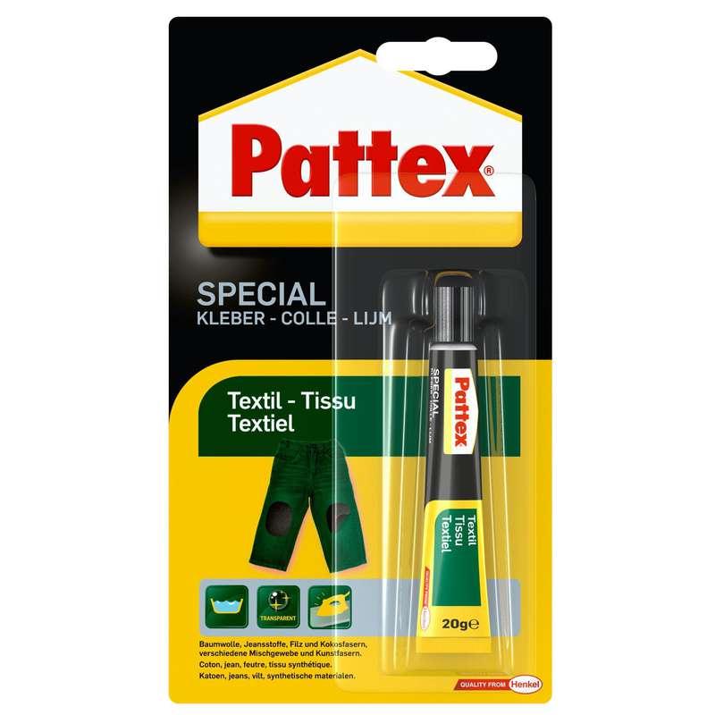 Colle spéciale matériaux textile, Pattex (20 g)