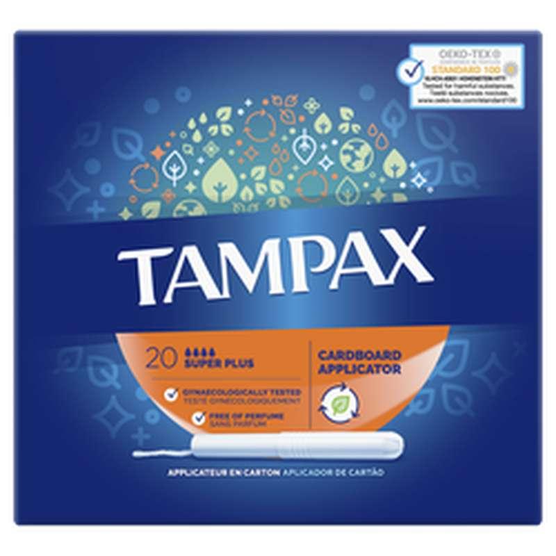 Tampons avec applicateur Super plus, Tampax (x 20)