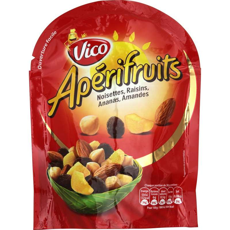 Fruits secs & noisettes Apérifruits, Vico (120 g)