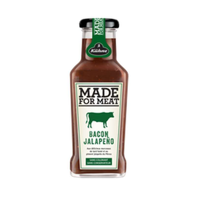 Sauce Made For Meat Bacon Jalapeno, Kuhne (235 ml)