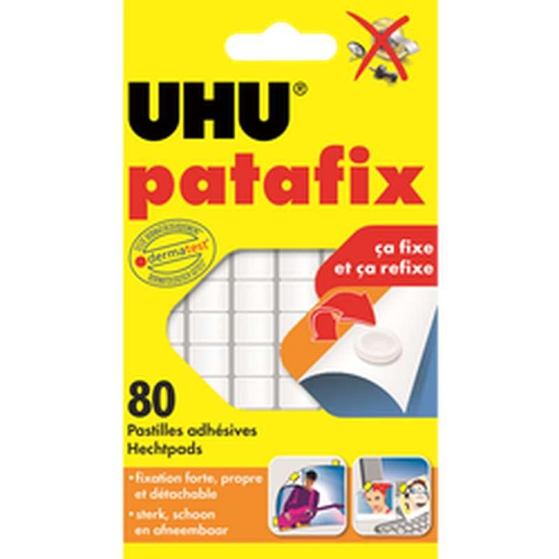 Pastilles adhésives blanches Patafix, UHU (x 80 pastilles)