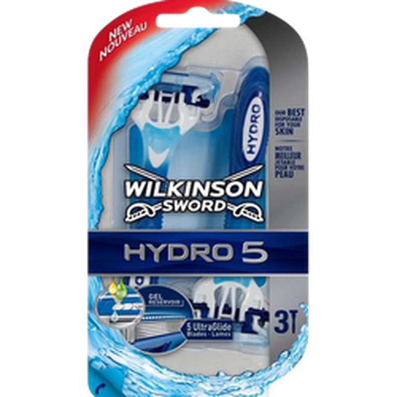 Rasoirs jetable hydro 5, Wilkinson (x 3)
