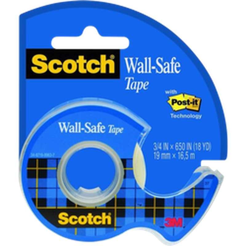 Ruban adhésif Wall-Safe + dévidoir, Scotch (19 mm x 16,5 m)