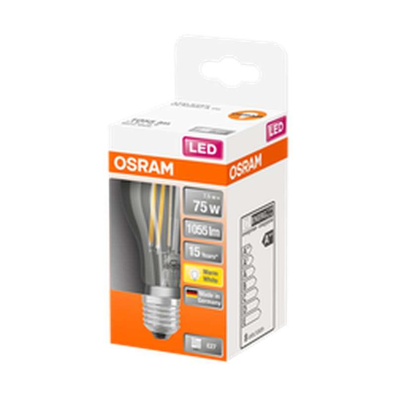 Ampoule ronde LED à filament 75W culot à vis E27 - blanc chaud, Osram (x 1)