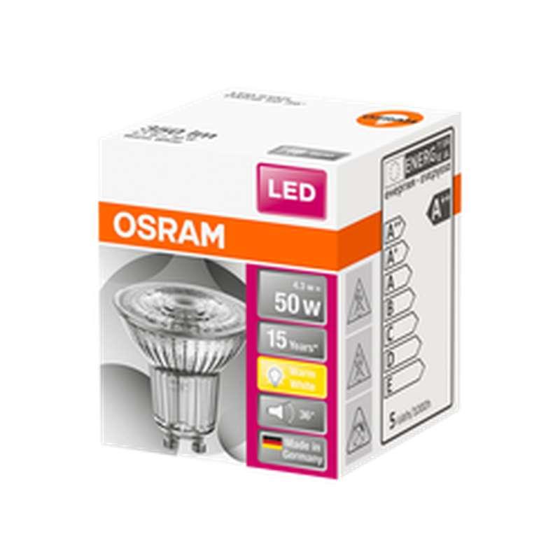 Ampoule LED Spot PAR16 50W culot GU10 - blanc chaud, Osram (x 1)